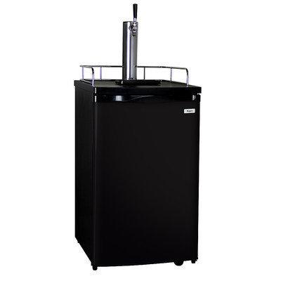 Kegco K199B-1 Full Size Kegerator Draft Beer Dispenser with Black Cabinet and Door
