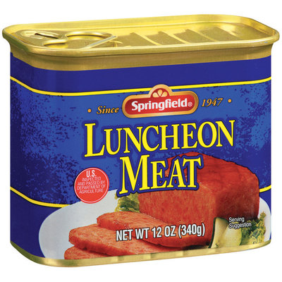 Springfield  Luncheon Meat 12 Oz Pull-Top Can