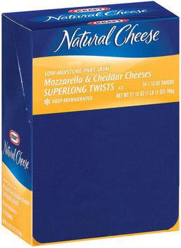 Kraft Natural Cheese Snacks Mozzarella & Cheddar Cheeses Superlong Twists 27.12 Oz Box