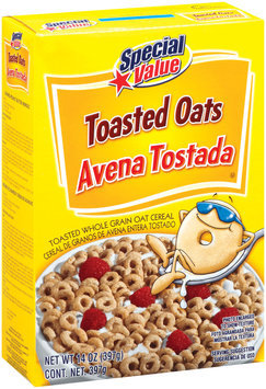 Special Value Toasted Oats Cereal 14 Oz Box