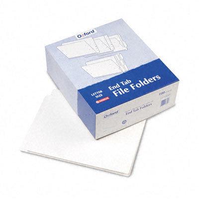 Pendaflex Two-Ply Folder, Straight Cut End Tab, White