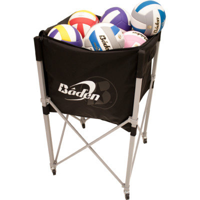 Volleyball Headquarters Baden Heavy Duty Volleyball Cart with Pocket - Black