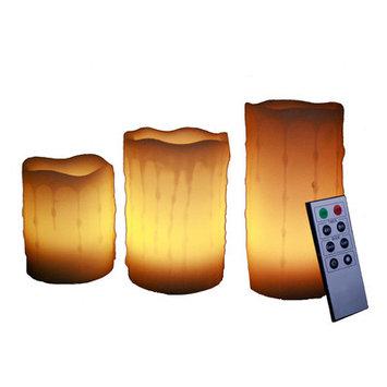 Unilution S3 Round Flameless Candle Ivory