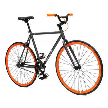 Critical Cycles Fixed Gear Single Speed Fixie Urban Road Bike (Gray/Orange, Small)