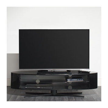 Techlink EL140B Gloss Black TV Stand - Screens up to 70