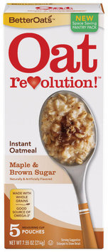 BETTEROATS Maple & Brown Sugar 5 ct Instant Oatmeal 7.55 OZ BOX