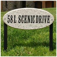 Qualarc Rockport Oval Granite Address Plaque