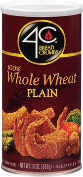 4C® 100% Whole Wheat Plain Bread Crumbs 13 oz. Canister