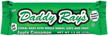 Daddy Ray's Apple Cinnamon Low Fat Cereal Bar 1.3 Oz Wrapper