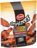 Tyson® Any'tizers® Grillin' Wings™ Smokehouse Flavored Chicken Wings 24 oz. Bag