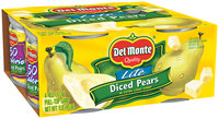 Del Monte® Lite Diced Pears in Extra Light Syrup 4-4 oz. Cans