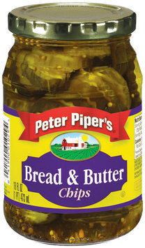 Peter Piper's Bread & Butter Chips Pickles 16 Oz Jar
