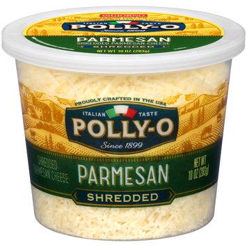 Polly-O Shredded Parmesan Cheese 10 oz. Tub
