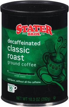 Stater Bros.® Classic Roast Mild Roast Decaffeinated Ground Coffee 10.3 oz. Canister