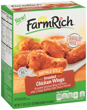 Farm Rich™ Buffalo Style Breaded Chicken Wings 17 oz. Box