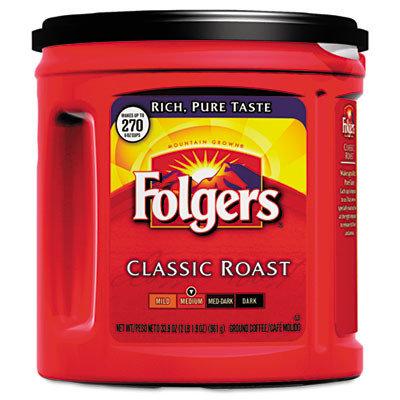 Folgers Ground Coffee, Classic Roast Regular
