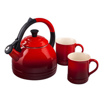 Le Creuset Peruh Kettle & Mug Set, Cherry