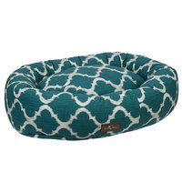 Jax And Bones Monaco Everyday Cotton Donut Bed Size: Medium, Color: Monaco Oasis (Teal)
