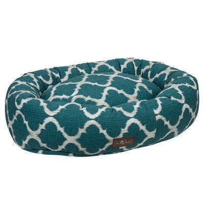 Jax And Bones Monaco Everyday Cotton Donut Bed Size: Medium, Color: Monaco Oasis (Teal)