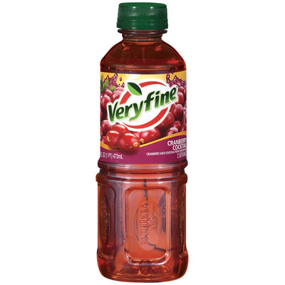 Veryfine Cranberry Cocktail Cranberry Juice Cocktail 16 Oz Plastic Bottle
