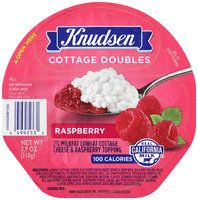 Knudsen Cottage Doubles Cottage Cheese & Raspberry Topping 3.9 oz. Tray