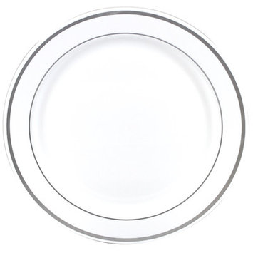 Gourmet Home Products Premium Reusable Heavyweight Plastic Plate
