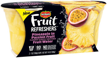Del Monte® Fruit Refreshers™ Pineapple in Passion Fruit Flavored Slightly Sweetened Fruit Water 2-7 oz. Cups