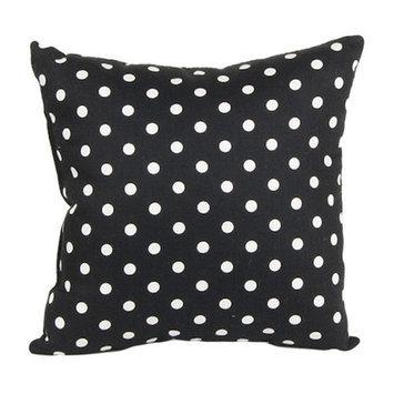 Glenna Jean McKenzie Black Polka Dot Pillow