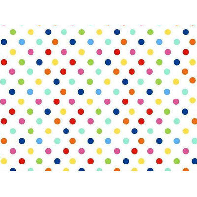 Stwd Primary Polka Dots Woven Mini Fitted Sheet Color: Multi