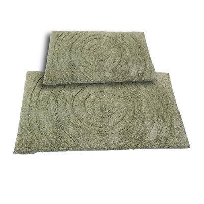 Textile Decor Castle 2 Piece 100% Cotton Echo Spray Latex Bath Rug Set, 30 H X 20 W and 40 H X 24 W