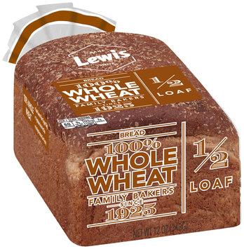 Lewis® 100% Whole Wheat Bread 12 oz. Bag