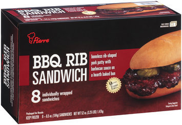 Pierre™ BBQ Rib Sandwich 8-6.5 oz. Box