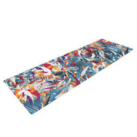 Kess Inhouse Excited Colours by Danny Ivan Abstract Yoga Mat