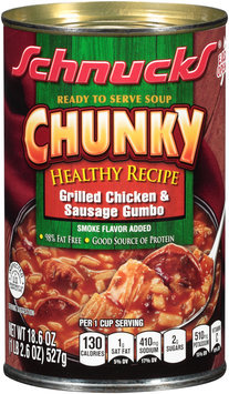 Schnucks® Chunky Healthy Recipe Grilled Chicken & Sausage Gumbo Soup 18.6 oz. Can