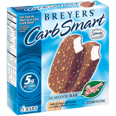 Breyers Almond Bar 3 Oz Carb Smart 6 Ct Box