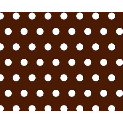 Stwd Polka Dots Portable Mini Fitted Crib Sheet Color: Brown