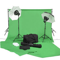Square Perfect Video Studio in a Box w/ Background Stand Chromakey Green Screen