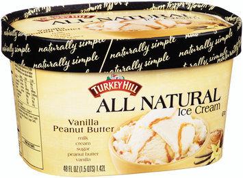 Turkey Hill® Vanilla Peanut Butter All Natural Ice Cream 48 fl. oz. Carton