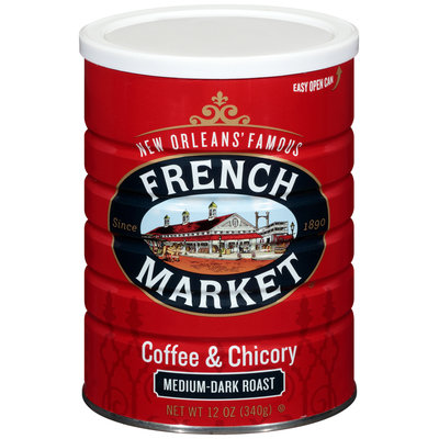 French Market® Medium-Dark Roast Ground Coffee & Chicory 12 oz. Canister
