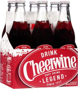 Cheerwine® Cherry Soft Drink 6-12 fl. oz. Bottles