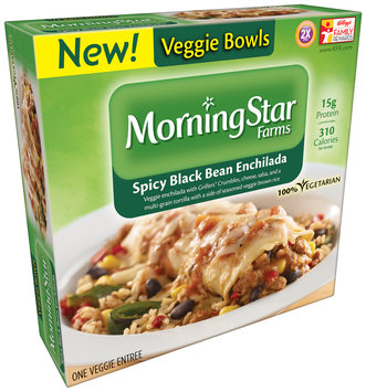 MorningStar Farms® Spicy Black Bean Enchilada Veggie Bowls 9 oz. Box