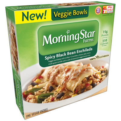 MorningStar Farms® Spicy Black Bean Enchilada Veggie Bowls 9 oz. Box