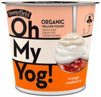 Stonyfield Organic™ Oh My Yog!™ Orange Cranberry Trilayer Yogurt 6 oz. Cup