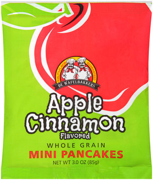 De Wafelbakkers® Apple Cinnamon Whole Grain Mini Pancakes 3.0 oz. Bag