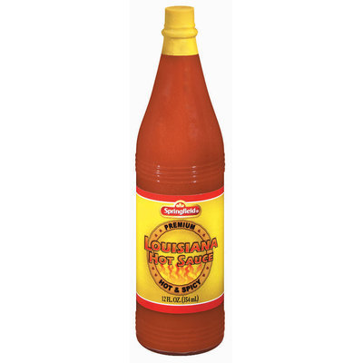 Springfield Louisiana Hot & Spicy Hot Sauce 12 Oz Glass Bottle