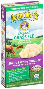 Annie's Homegrown® Organic Grass Fed Shells & White Cheddar Macaroni & Cheese 6 oz. Box