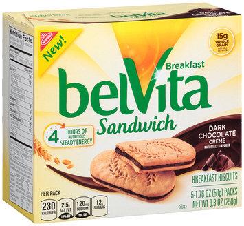 belVita Sandwich Dark Chocolate Creme Breakfast Biscuits 5-2 ct Packs