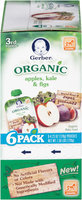 Gerber® 3rd Foods® Organic Apples, Kale & Figs Baby Food 6-4.23 oz. Pouches