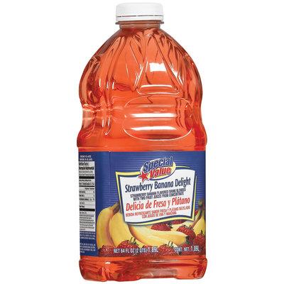 Special Value Strawberry Banana Delight Beverage  64 Oz Plastic Bottle