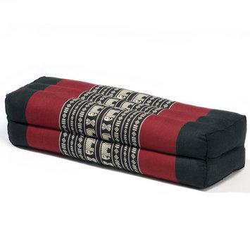 My Zen Home Yoga Bolster Color: Black / Red